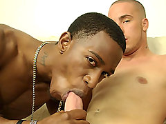 Interracial straight boys blow each other and cum