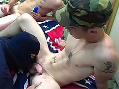 Nice Looking Soldier Enjoys Sucking Some Civil Cock Hardcore